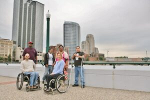 People with Disabilities downtown