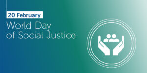World day of social justice banner