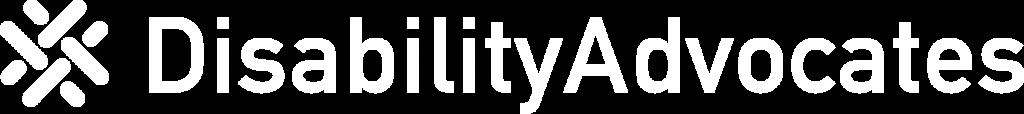 White version of the Disability Advocates Logo